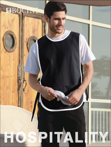 WA0676 Polyester Drill Popover Apron - With Pocket