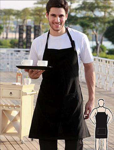 WA0677 Polyester Drill Full Bib Apron - With Pocket
