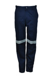 WK1234 Unisex Adults Cotton Drill Work Pants With Reflective Tape