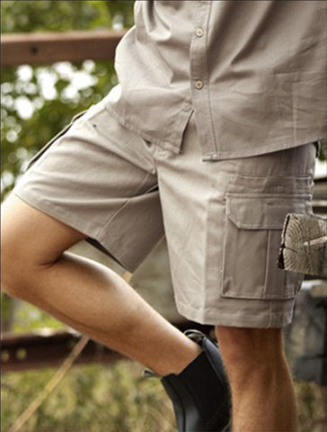 WK615 Unisex Adults Cotton Drill Cargo Shorts