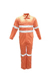 WO0683 Unisex Adults Hi-Vis Cotton Drill Overall With X Pattern Reflective Tape
