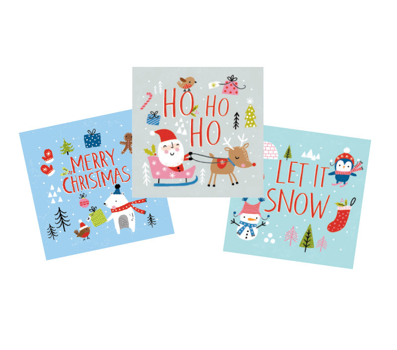 Childrens' Christmas cards (pack of 15)