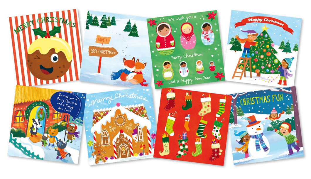 Kids' Christmas cards (pack of 24)