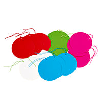 Circular multicoloured gift tags