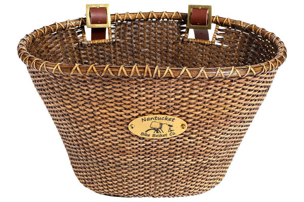 Nantucket Lightship Front Basket, Oval Shape Stained