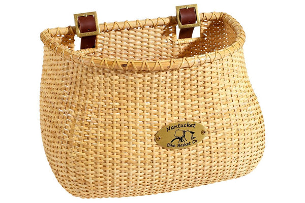 Nantucket Lightship Front Basket, Classic Shape Natural