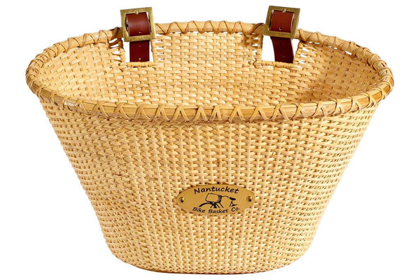 Nantucket Lightship Front Basket, Oval Shape Natural