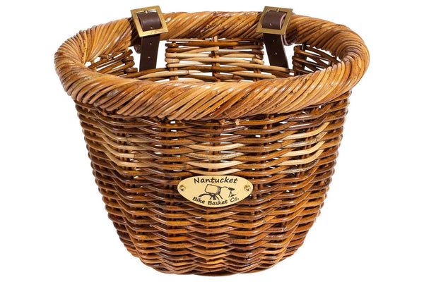 Nantucket Cisco Front Basket, Oval Shape Honey