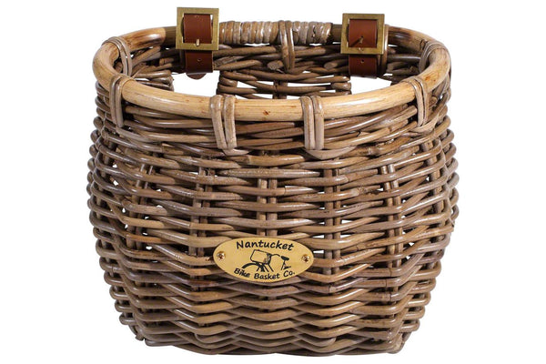 Nantucket Tuckernuck Front Basket, Classic Shape: Natural