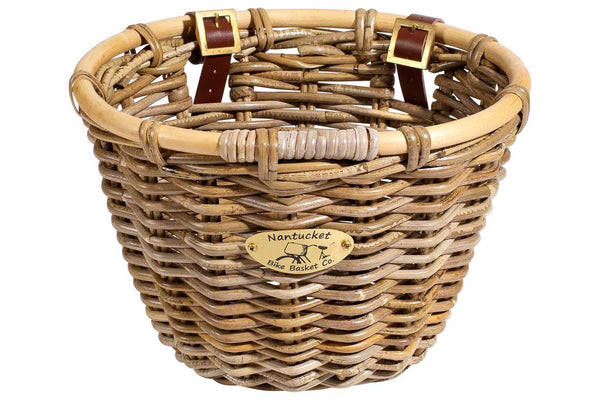 Nantucket Tuckernuck Front Basket, Oval Shape: Natural