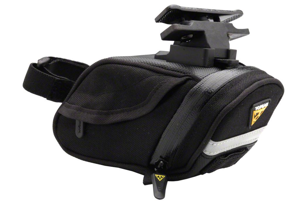 Topeak Aero Wedge DX Seat Bag with Mount: Small, Black
