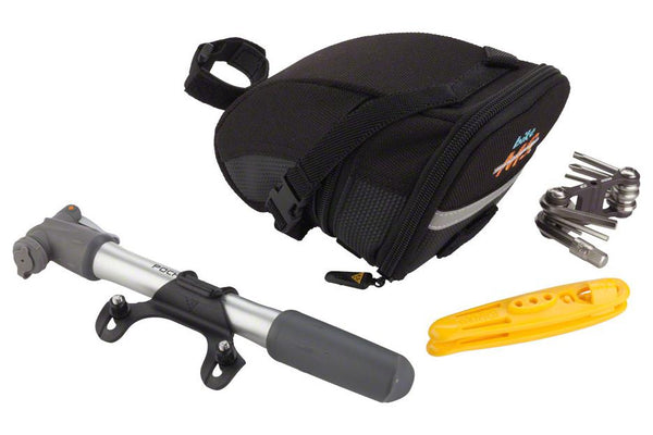 Topeak Bike MS Wedge Bag with Pocket Rocket Pump, Mini 9 tool and 1.1 Shuttle Tire Levers