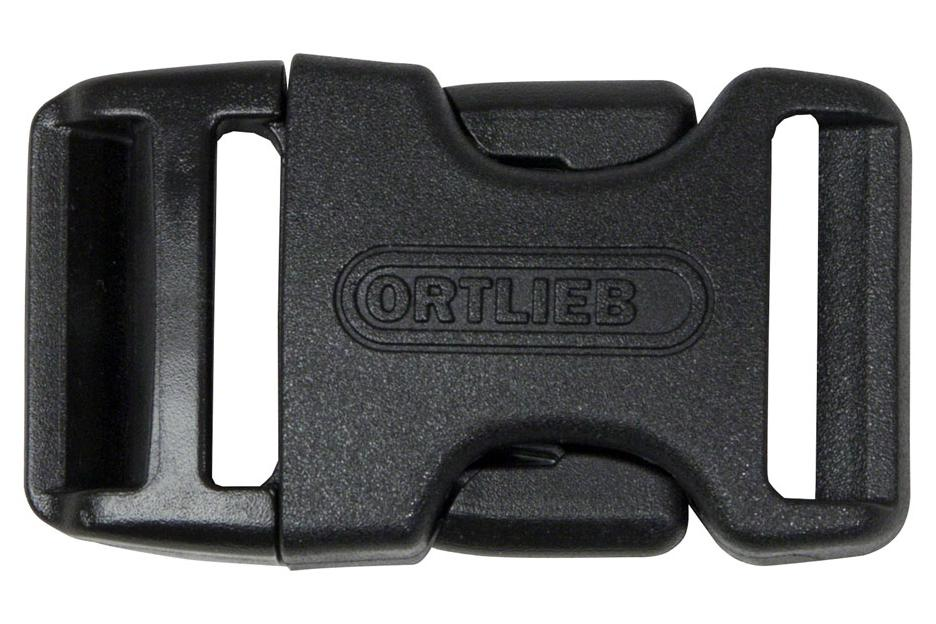 Ortlieb Repair Buckles: Fits 25mm Straps, Female and Male Ends, Black
