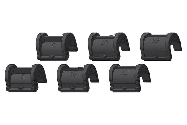 Ortlieb Rail Reducers For QL2.1/QL2 Systems: Includes 2x8mm, 2x10mm, 2x12mm (Enough for 1 Pannier)