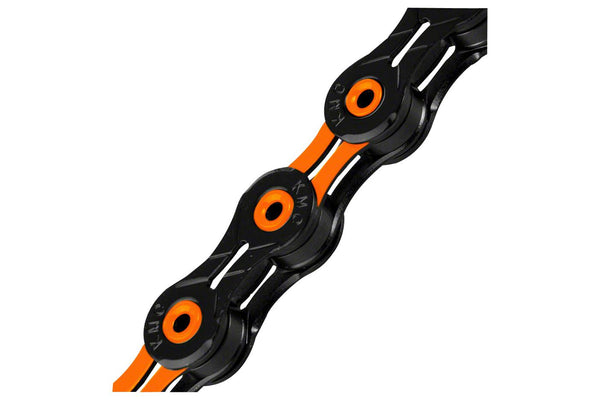 KMC X11SL Chain: 11-Speed, 116 Links, DLC Black/Orange