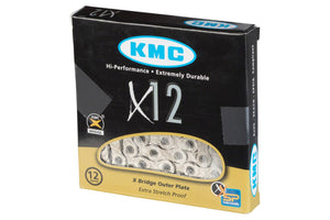 KMC X12 Chain: 12-Speed, 126 Links, Silver