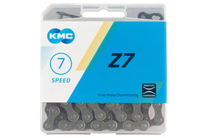 KMC Z7 6, 7 Speed Chain 116 Links Gray Brown