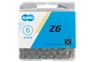 KMC Z6 6, 7 Speed 116 Links Chain Gray