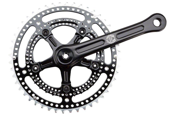 Velo Orange Grand Cru Noir Drillium Crankset: 34/48t, 165, Black