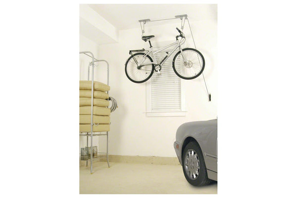 Delta Deluxe Bike Ceiling Hoist Storage Rack with Kayak/Canoe Strapping