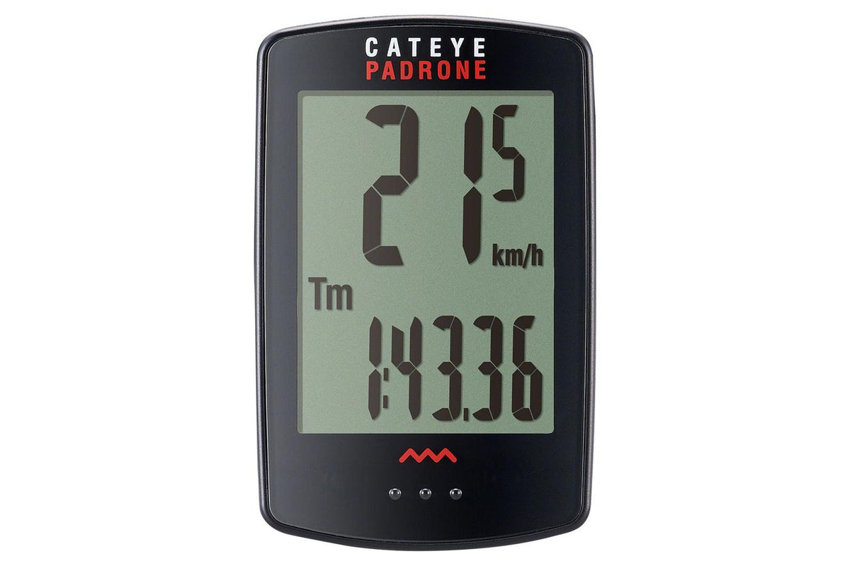 CatEye Padrone Wireless Cycling Computer: Black