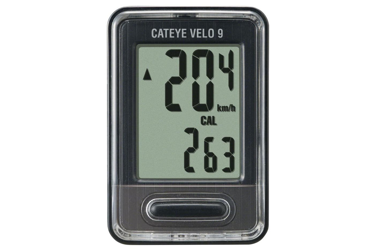 CatEye Velo 9 Wired Cycling Computer: Black