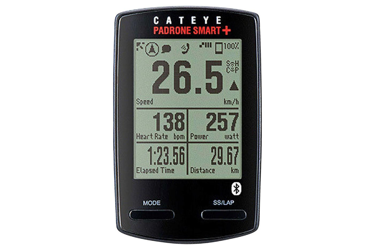 CatEye Padrone Smart + Cycling Computer: Black