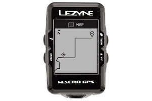 Lezyne Macro GPS Loaded Cycling Computer with Heart Rate and Speed/Cadence Sensor: Black