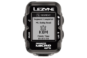 Lezyne Micro GPS Loaded Cycling Compute with Heart Rate and Speed/Cadence Sensor: Black