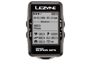 Lezyne Super GPS Cycling Computer: Black