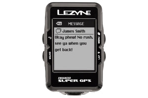Lezyne Super GPS Loaded Cycling Computer with Heart Rate: Black