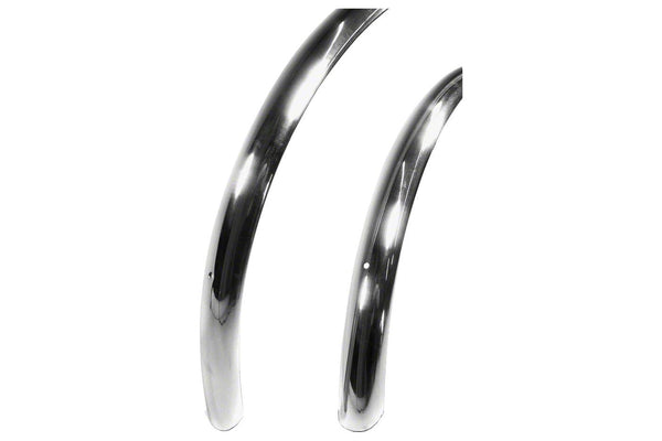 Velo Orange Smooth 700c x 37 Fender Set: Polished Silver (700c x 25-28)
