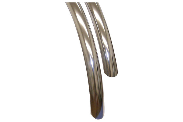 Velo Orange Stainless Steel 700c x 45 Fender Set: Stainless Steel (700c x 25-35)