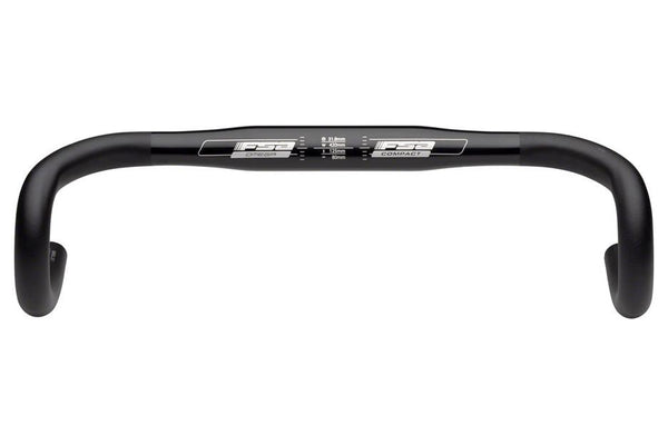 FSA Omega Compact 40cm 31.8 Anatomic Drop Bar Black
