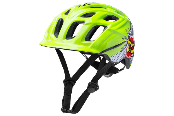 Kali Protectives Chakra Child Helmet: Pow Green/Black One Size