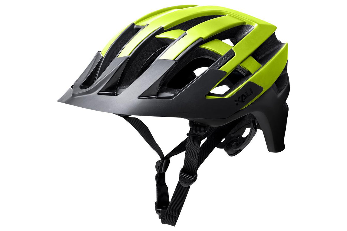 Kali Protectives Interceptor Helmet: Halo Matte Fluorescent Yellow/Black LG/XL