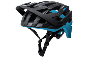 Kali Protectives Interceptor Helmet: Dual Matte Black/Blue LG/XL