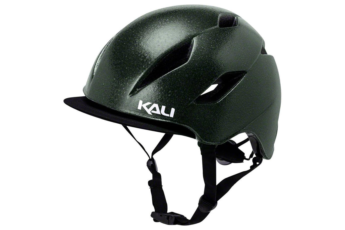 Kali Protectives Danu Helmet: Solid Reflective Emerald Green SM/MD