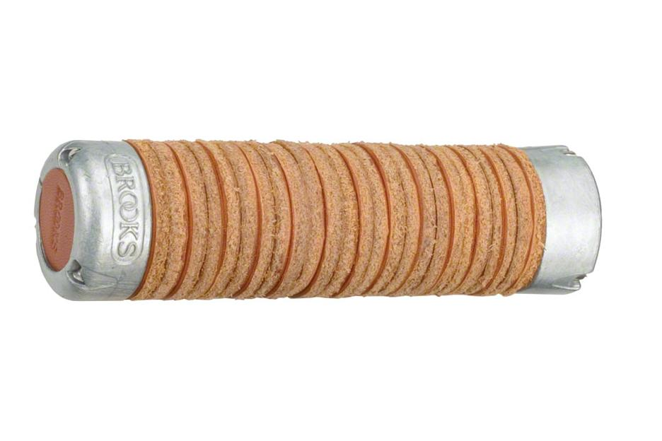 Brooks Adjustable Length Leather Ring Grips: Honey