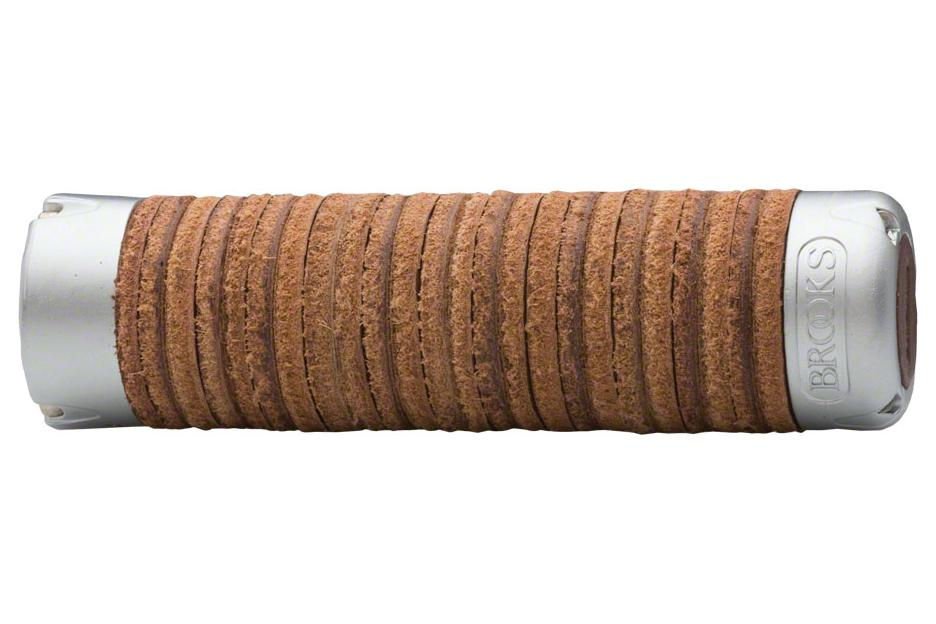 Brooks Adjustable Length Leather Ring Grips: Brown