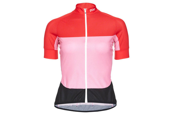 POC Essential Road Light Women's Jersey: Prismane Red/Altair Pink LG