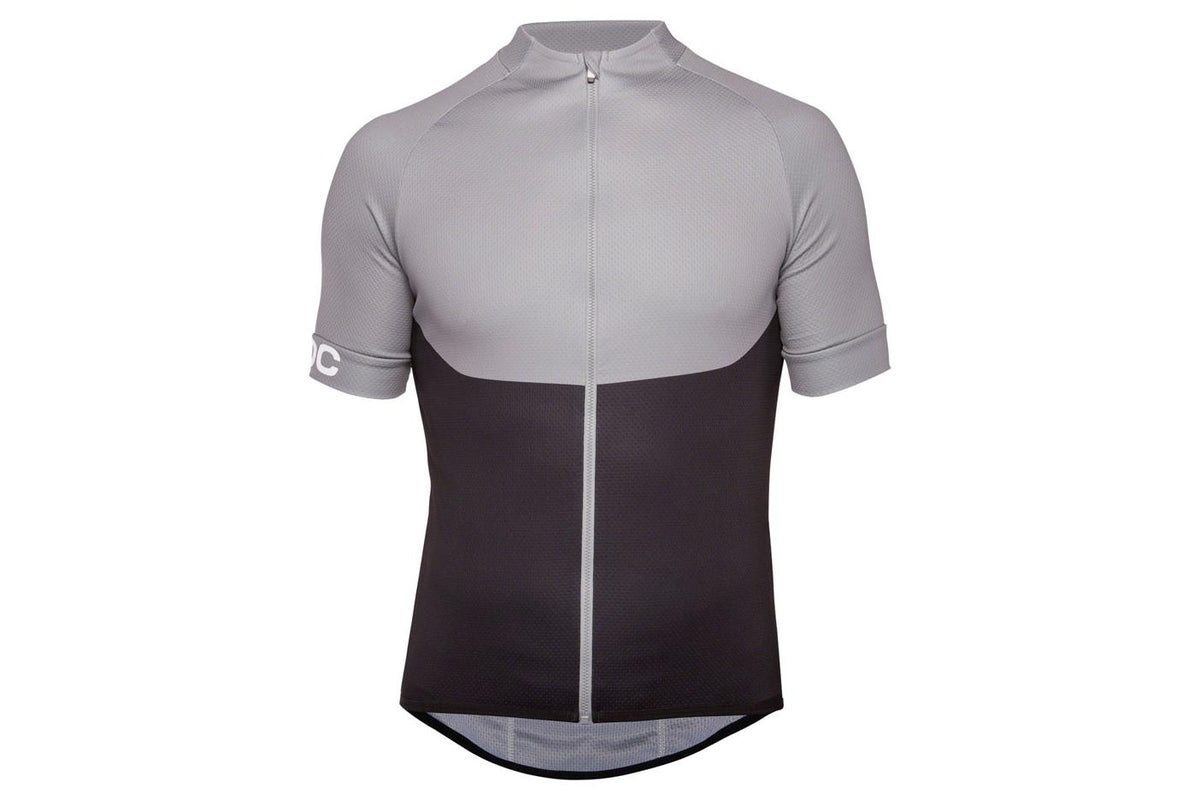 POC Essential XC Zip Tee Men's Jersey: Steel Gray MD