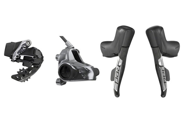 SRAM Red eTap AXS 1x Flat Mount HRD Electronic Groupset: Brake/Shift Levers, Front and Rear Disc Calipers, Rear Derailleur, D1