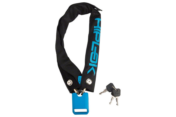 Hiplok Lite Wearable Hardened Steel Chain Lock: 8mm, Black and Cyan