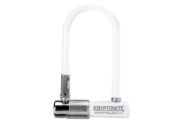 "Kryptonite Krypto Series 2 Mini-7 U-Lock: 3.25 x 7"" White"