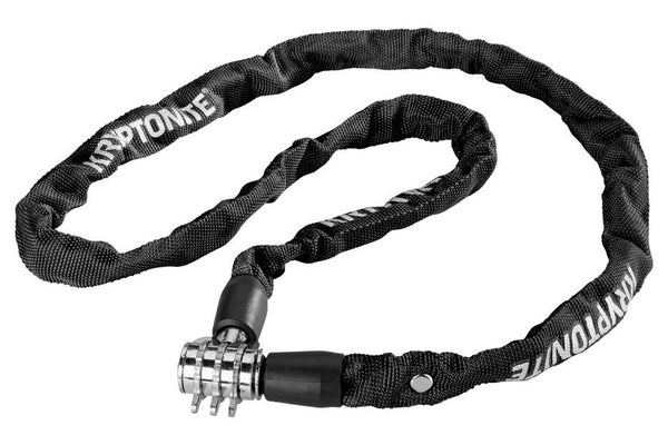 Kryptonite Keeper 411 Chain Lock with Combination: Black, 4 x 110cm