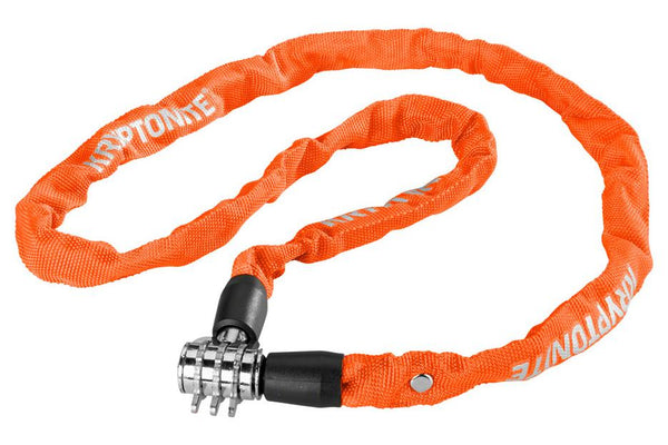 Kryptonite Keeper 411 Chain Lock with Combination: Orange, 4 x 110cm