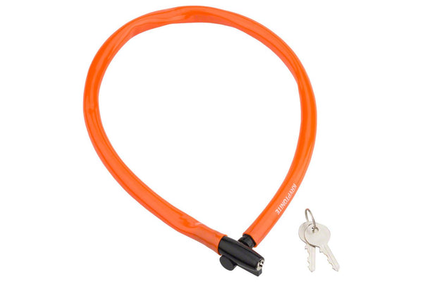 Kryptonite Keeper 665 Cable Lock with Key: 2.13' x 6mm Orange