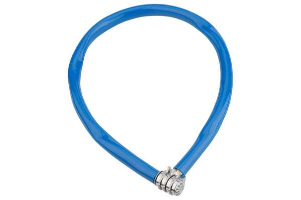 Kryptonite Keeper 665 Cable Lock with 3-Digit Combo: 2.13' x 6mm Blue