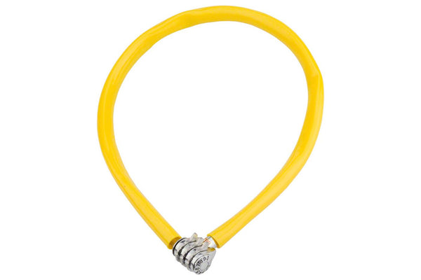 Kryptonite Keeper 665 Cable Lock with 3-Digit Combo: 2.13' x 6mm Yellow